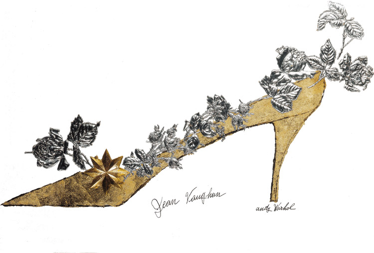 Andy Warhol, Jean Vaughan, Golden Shoe - 1956