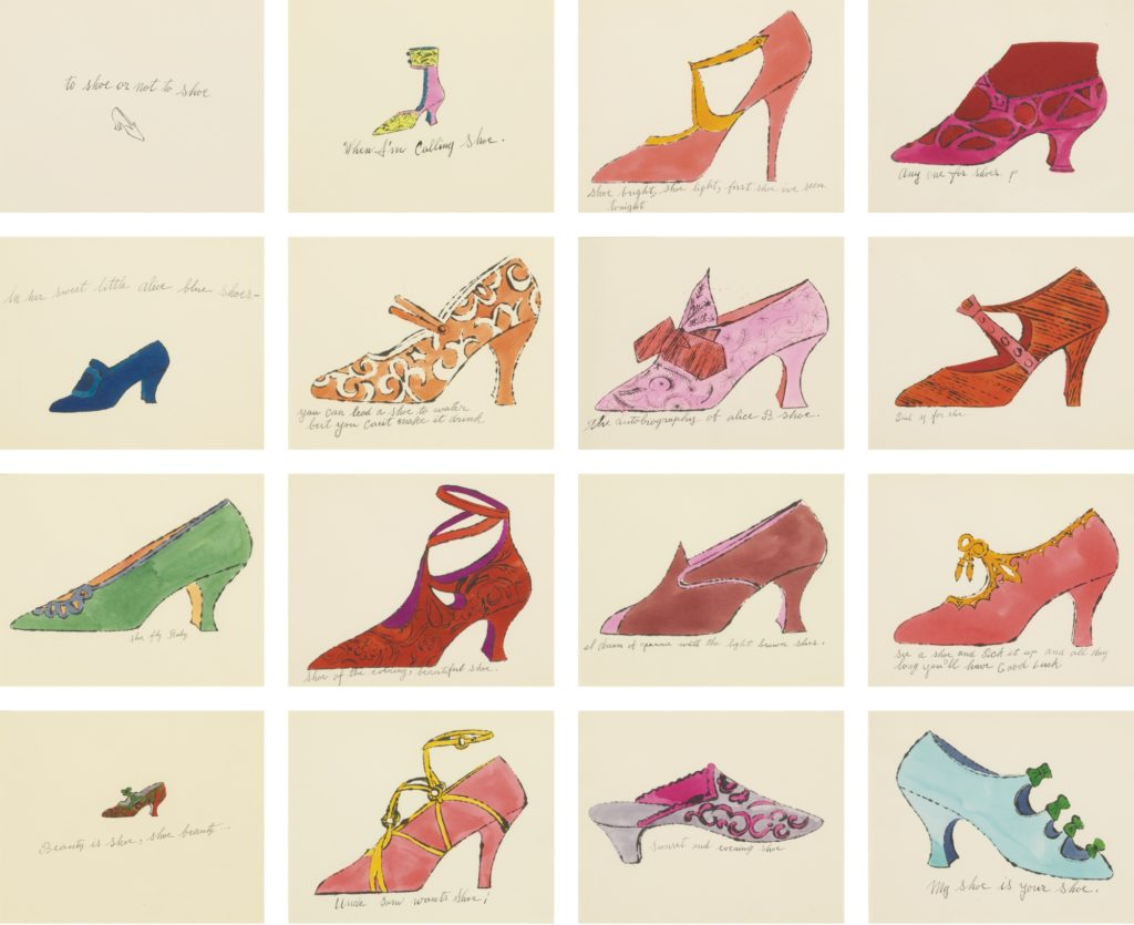 Andy Warhol, À la Recherche du Shoe Perdu, Sotheby's