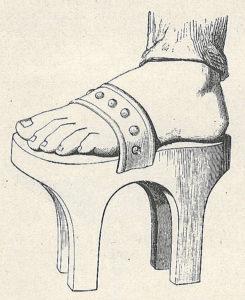 Ancienne galoche des femmes turques